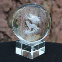 广州水晶球订做厂家,酒店装饰水晶球/开业庆典风水摆件, 广州水晶球厂.