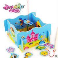 丹妮奇特 趣味钓鱼游戏 适合1-3岁亲子互动游戏 儿童益智玩具