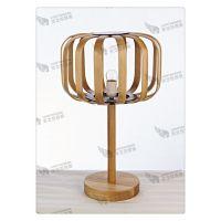 创意木制灯具 厂家直销浪漫餐厅装饰台灯 简约环保木灯