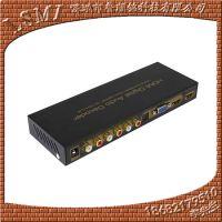HDMI音频分离器将HDMI信号转换成VGA+SPDIF+HDMI+5.1声道输出