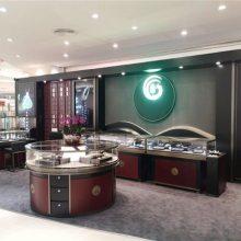 供应欧式风格珠宝展柜效果图,珠宝卖场展柜制作,高档烤漆珠宝展示柜订做