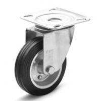 通用配件供应意大利产品ELESA带钢板支架的硫化橡胶脚轮RE.E3-N一级代理交期短结构图采购价格优
