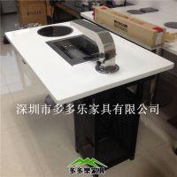 火锅烧烤一起的桌子哪里有得卖 多多乐家具厂家定做 涮烤桌 火锅带烧烤