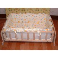 婴儿床品批发 摇篮床围床垫二件套80*50cm 全棉脱套四组件可订做