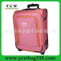 龙岗手袋厂家直销  新颖 时尚拉杆箱 欧美  粉红色行李箱