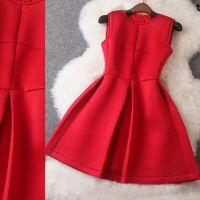 厂家直销欧美大牌女装秋冬新款太空棉修身显瘦打底蓬蓬裙连衣裙