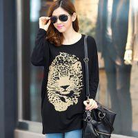 中长款打底衫 14韩版新款胖mm大码女装 宽松圆领T恤蝙蝠长袖31160