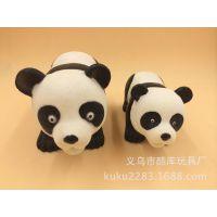 工艺品搪胶摆件 熊猫发声公仔 创意礼品 家居 景区特卖