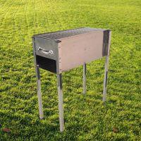 加厚加宽不锈钢烧烤炉子家用户外便携木炭烧烤架箱烤肉架批发