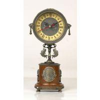 高档锌合金欧式钟表创意客厅挂钟1.5KG座钟静音进口机芯-电影道具