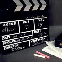 zakka杂货 拍照 摄影道具 木制电影拍板  家居装饰 厂家直销