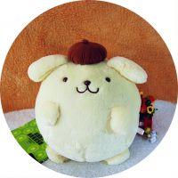 日本正版原单Sanrio PomPomPurin布丁狗/布甸狗毛绒公仔抱枕靠枕