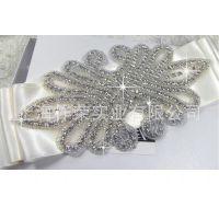 厂家直销婚纱腰带配饰|婚纱配饰|礼服配饰|水晶饰品花|珠绣钻饰品