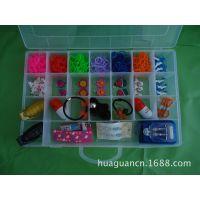 透明塑料收纳盒28格18格10格多格可拆卸内格大小可组装