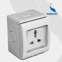saipwell塑料明装国标多功能墙壁插座 三插厨房用防蒸汽插座SKW-S