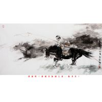 Traditional Chinese Ink Horse for Wall Decoration