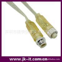 供应INST3芯 电缆防水接头防水插头线 金属塑料外圈可选 IP68