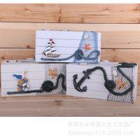 地中海 家居装饰 木制品 帆船 纸巾盒 拍摄道具 淘宝批发