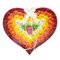 满包邮 浪漫礼品爱心玫瑰香皂花 五彩玫瑰 100朵装 女朋友礼物