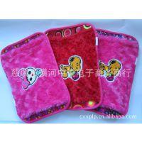 【太阳鸟】双插手电热水袋 毛巾绣电暖袋 暖手宝 节庆用品定制