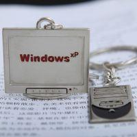 『电脑专卖创意礼品』Q114显示器电脑主机情侣钥匙扣可印LOGO