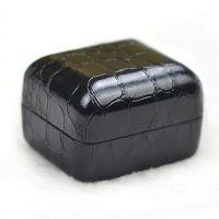 高档鳄鱼纹PU皮革戒指盒 耳环/耳钉盒 石头纹首饰品礼品包装盒子
