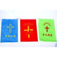 批发 基督教礼品 装饰品 方形彩旗-圣诞款 50张一卷