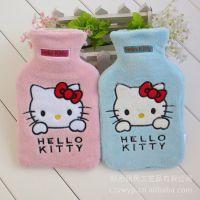 日单 可爱Hello Kitty KT猫冲水橡胶热水袋 痛经暖水袋 1000毫升