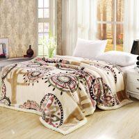 婚庆床品 加厚双层双面立体雕花毯子/精品交织拉舍尔毛毯11斤