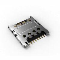 推出超薄插拔式Micro-SIM卡座连接器 6P 7P 8P 三星手机卡座