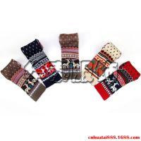 圣诞儿童小鹿针织保暖围巾,儿童吉祥麋鹿圣诞可爱秋冬潮流围巾