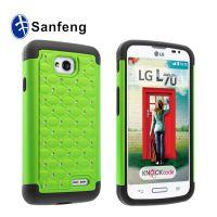 销量 LG L70原装正品镶钻手机壳 L70三合一满天星手机壳