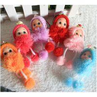 正版原创超可爱迷糊娃娃 时尚挂件可爱小丑娃娃 包挂手机挂批发