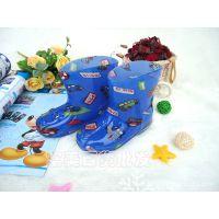 批发外贸儿童水晶雨鞋 韩版PVC男女雨靴 宝宝透明水鞋