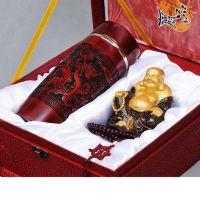 木雕/黑檀弥勒佛 瑞龙杯 佛珠礼品套装 平安礼品套装