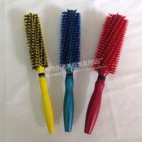 厂家供应毛卷梳 发型师毛滚梳 大花倒毛梳 剪发吹卷发梳子梨花梳