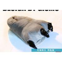 一件代发 龙猫连体睡衣同款[龙猫爪子棉拖鞋] 秋冬卡通情侣家居鞋