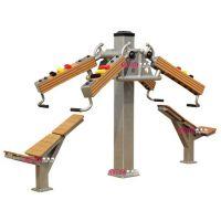 厂家直销沈阳蒸蒸日上品牌安美耐塑木户外健身器材上斜推训练器