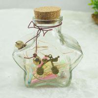 树脂工艺五星瓶家居摆件摆件小号景观闪灯星星瓶铃铛五星瓶