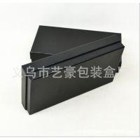 黑色礼品盒 外贸长款钱包盒 烫金 工艺品包装纸盒 厂家定做