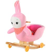 蓝伊仕批发童车卡通兔子摇马两用带音乐婴儿摇椅婴儿车