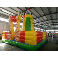 厂家热卖儿童户外充气运动游乐城堡 挑战设备攀岩墙 大型充气玩具 游乐设备