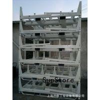 供应汽车柴油发动机周转料架、喷漆白色、可堆叠可周转用