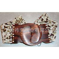 [厂家直销]手工珠编腰带 串珠腰带 珠珠松紧腰带 米珠编织腰带