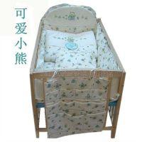 供应140*70cm婴儿床品十件套 床围棉被一站齐全套 全棉脱套