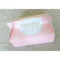 韩国烘焙包装 粉色西点蛋糕手提纸盒饼干盒月饼盒礼物盒现货批发