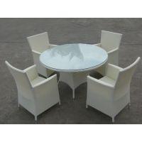 户外家具室外桌椅组合藤编休闲星巴克藤椅五件套酒吧咖啡厅
