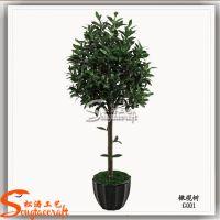 厂家批发仿真植物保鲜橄榄树 室内外装饰人造绿色植物