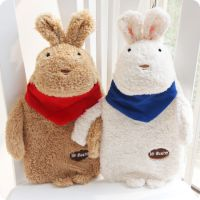 立体砂糖兔热水袋 充水橡胶热水袋含外套 可来样定做