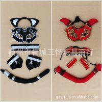 厂家万圣节表演装饰 cosplay道具 新款动物五件套 性感可爱装扮